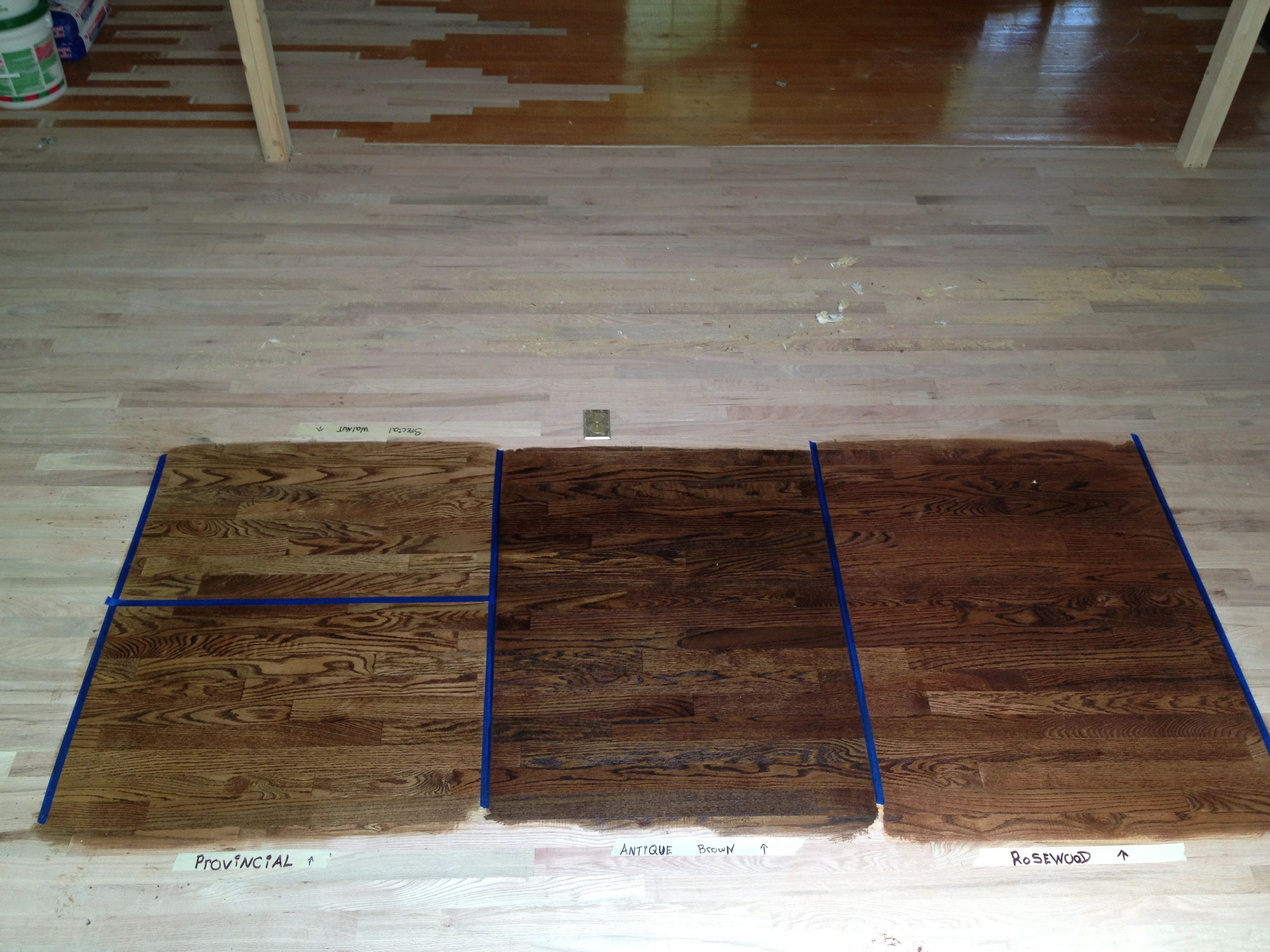 Bottom left provincial top left special walnut middle for Wood flooring specials