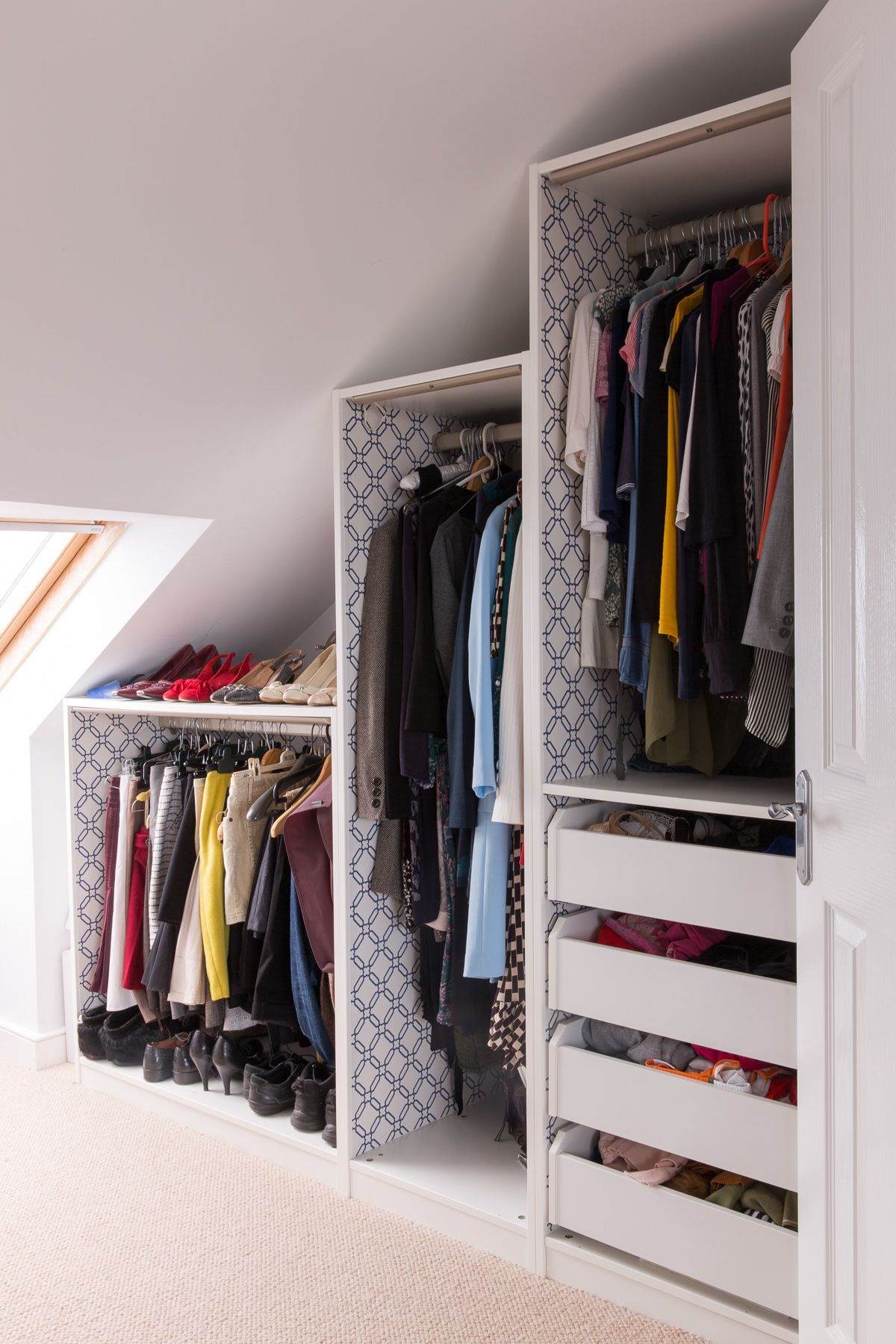 ikea wardrobe lighting. These Are Standard Ikea Pax Wardrobes Cut Down To Fit The Space - A Very Economical Way Get Bespoke Wardrobe. Adding Wallpaper Inside Wardrobe Lighting D