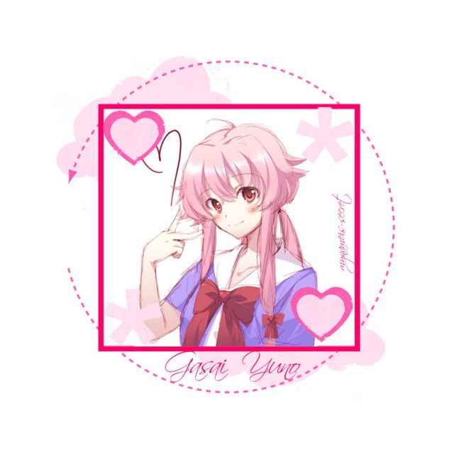 Gasai Yuno Icon By Mynameis Secret Liked On Polyvore Yuno Gasai Yuno Mirai Nikki Future Diary