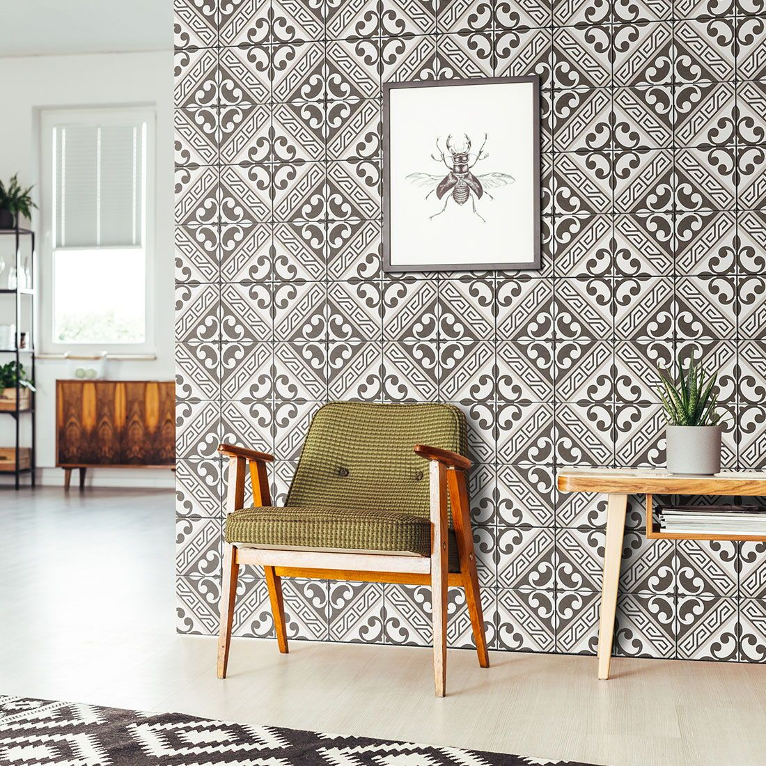 Inspired By Classic Handmade Encaustic Tiles The Encaustic Look Revival Series Boasts Elaborate Patterns Formed From Tile Trends Traditional Interior Interior
