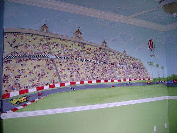 Race Track Mural Austin Race Track Pinterest Wall Murals