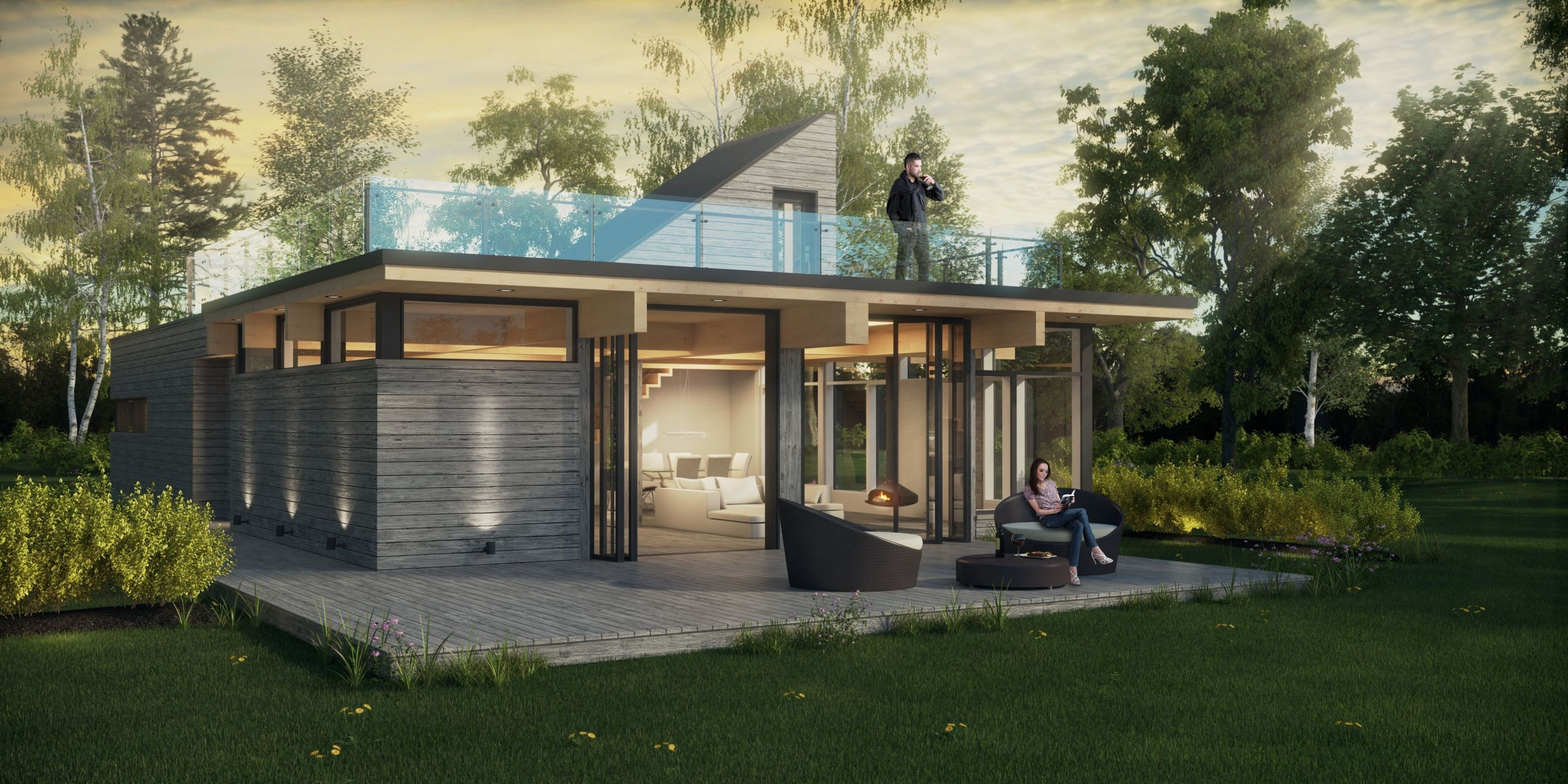 Simple design wonderful modern prefab homes northeast for Contemporary home builders wisconsin