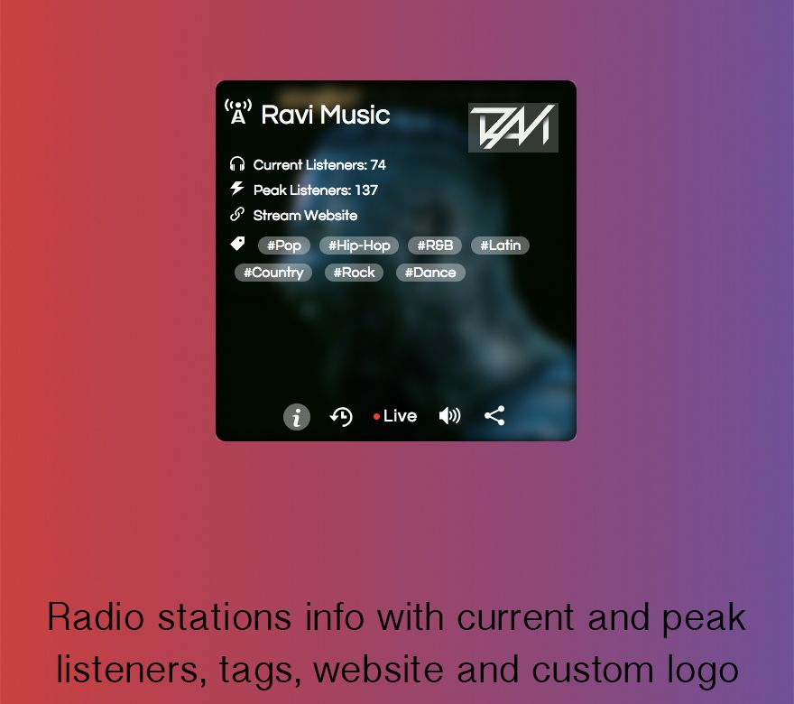 SHOUTcast and Icecast Radio Web Player in 2019 | Wedding