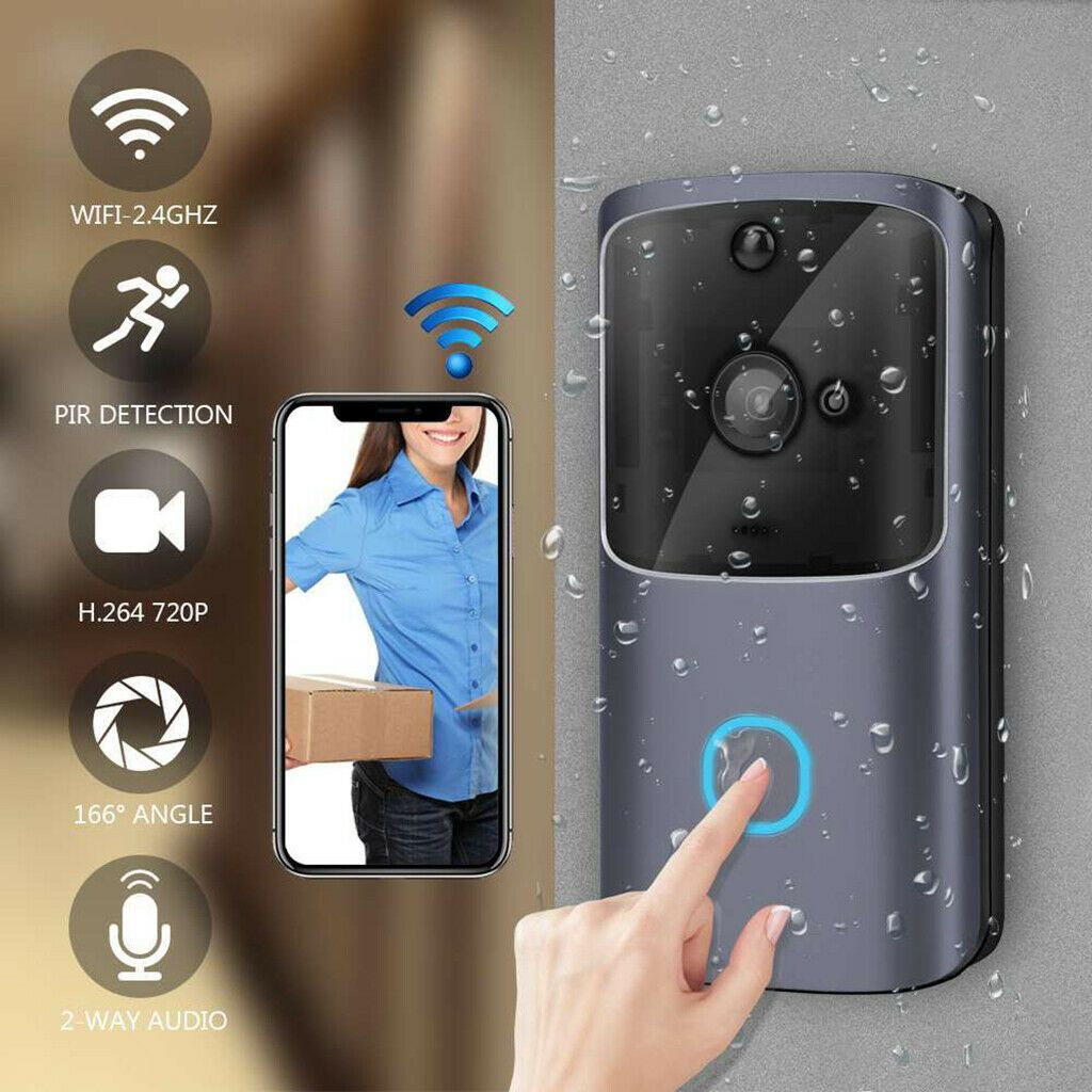Doorbell Camera Battery Smart Home Waterproof Wifi Wireless For Android Ios Smart Home Ideas Of Smart Home Smart In 2020 Wifi Doorbell Wifi Wireless Camera Phone