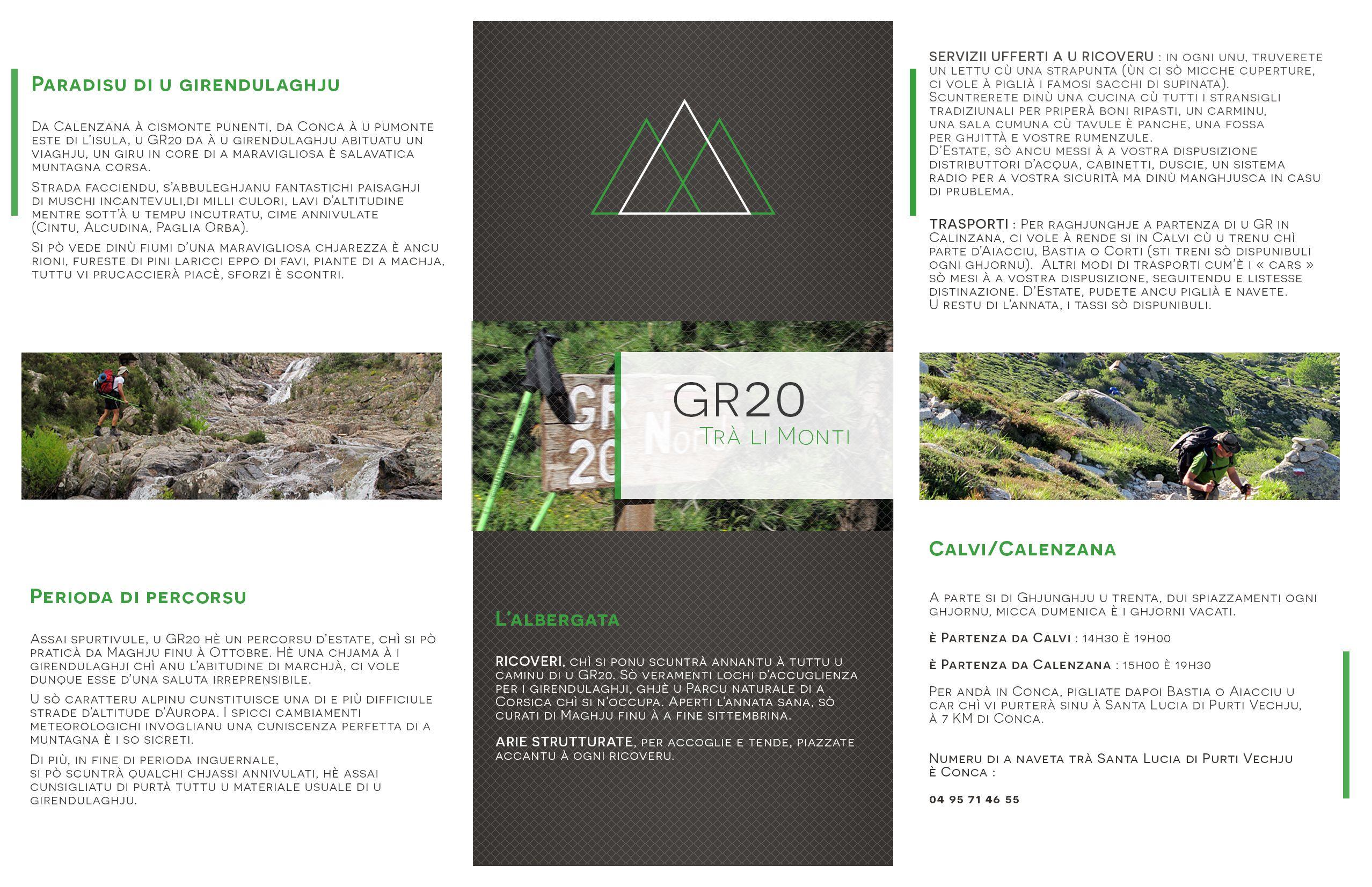 Brochure GR20 (Corse) Verso #brochure #illustration #graphisme #gr20