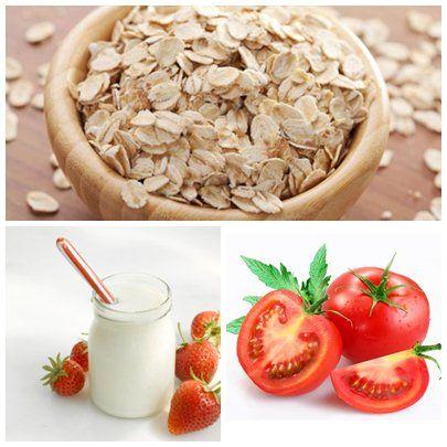 Cà chua và bột yến mạch giúp đánh bay thâm sạm, dưỡng da khỏe mạnh
