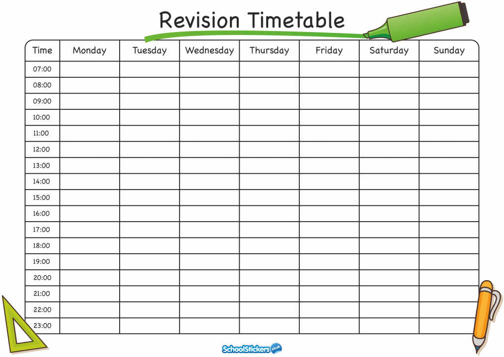 The School Stickers Revision Timetable is Here! Revision