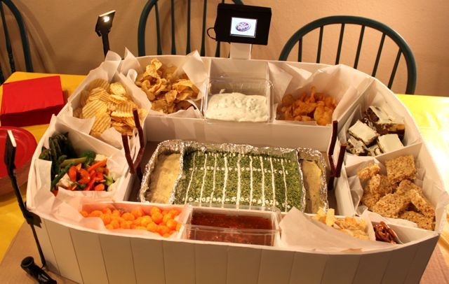Superbowl Snack Stadium with working lights and LCD screen!