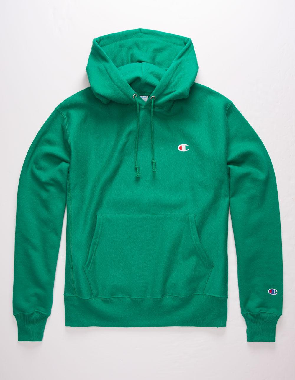 Champion Reverse Weave Left C Green Mens Hoodie Green 335689500 Green Hoodie Men Blue Hoodie Men Hoodies [ 1286 x 1000 Pixel ]