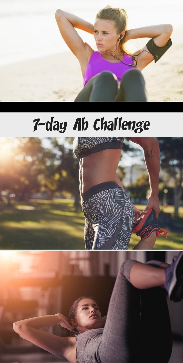 7-day Ab Challenge - health and diet fitness #abchallenge 7 Day Ab Challenge. Uncover those #muscles...