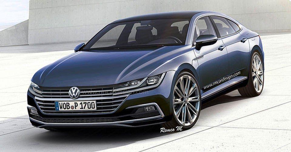 2018 Volkswagen Cc Rendering Is Super Sharp Carscoops Volkswagen Cc Volkswagen Volkswagen Models