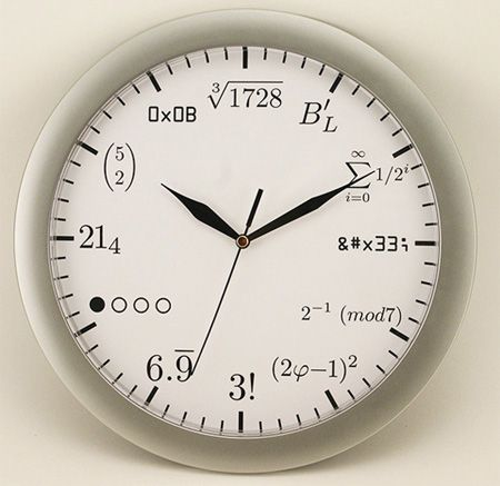 Geek Wall Clock Math Clock Clock Wall Clock