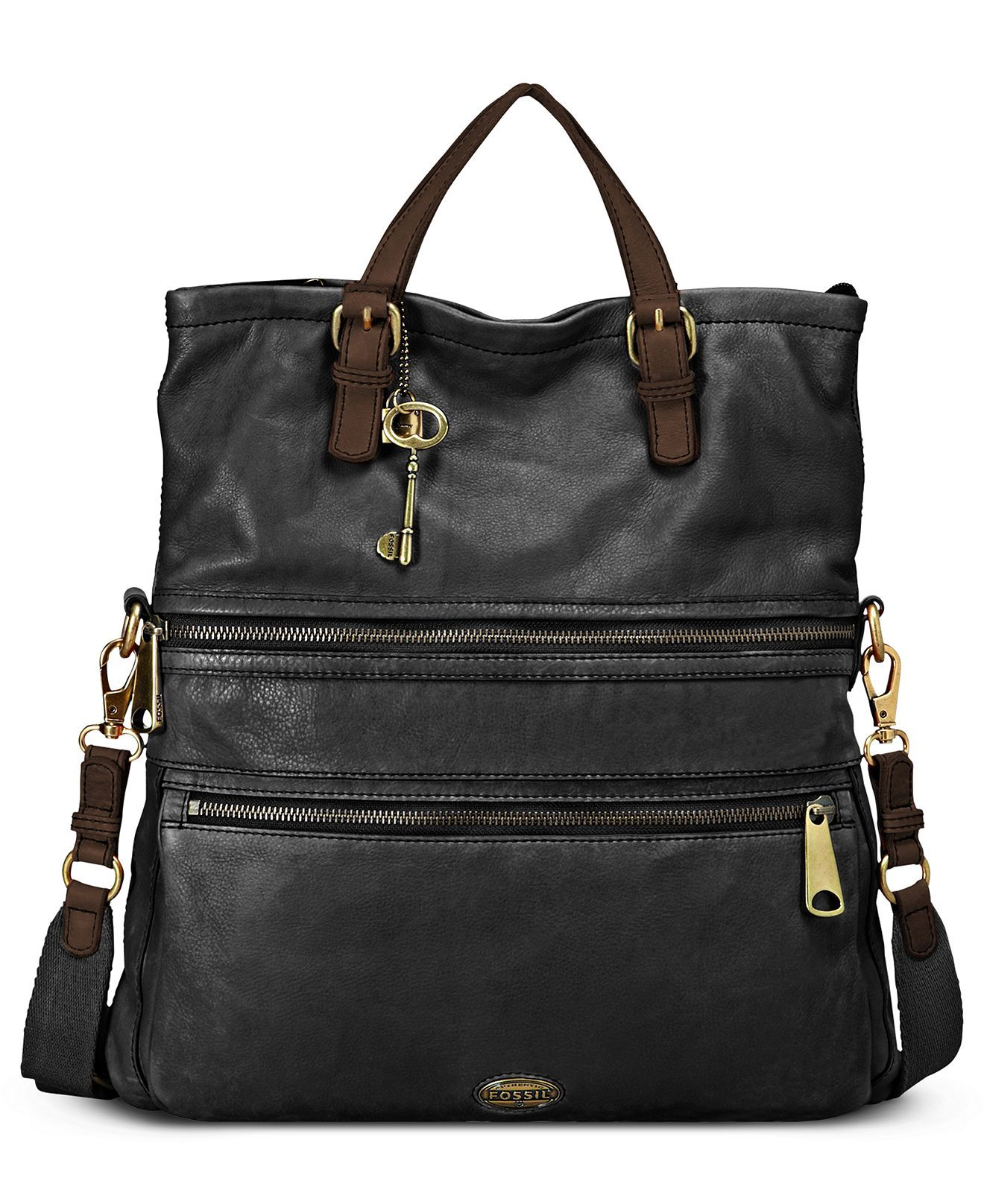 55d73797e115ac Fossil Handbag, Explorer Leather Tote - Fossil - Handbags & Accessories -  Macys