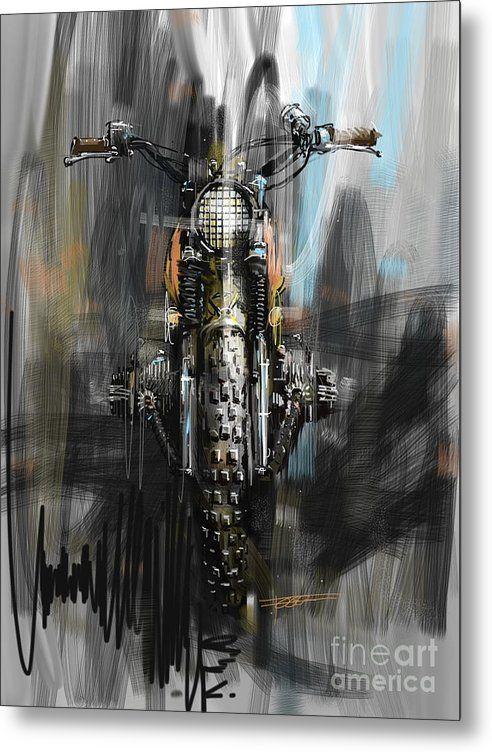 Pin on Motorcycle art print