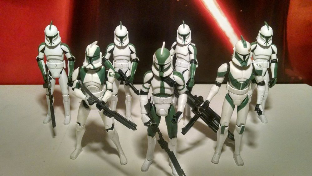 Star Wars Hasbro Action figura ELITE CORPS CLONE TROOPER da collezione Vintage