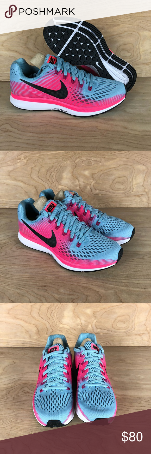 230475d656818 NIKE Air Zoom Pegasus 34 Womens Running Shoes NIKE Air Zoom Pegasus 34  Womens Running Shoes Teal Pink Style Code 880560 406 Multiple Sizes to  Choose From ...
