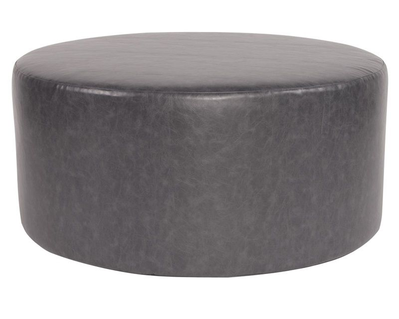 Bucktown Slate Universal 36 Round Cover C132 261 By Howard Elliott Collection Bizchair Com Round Ottoman Ottoman Upholstered Ottoman