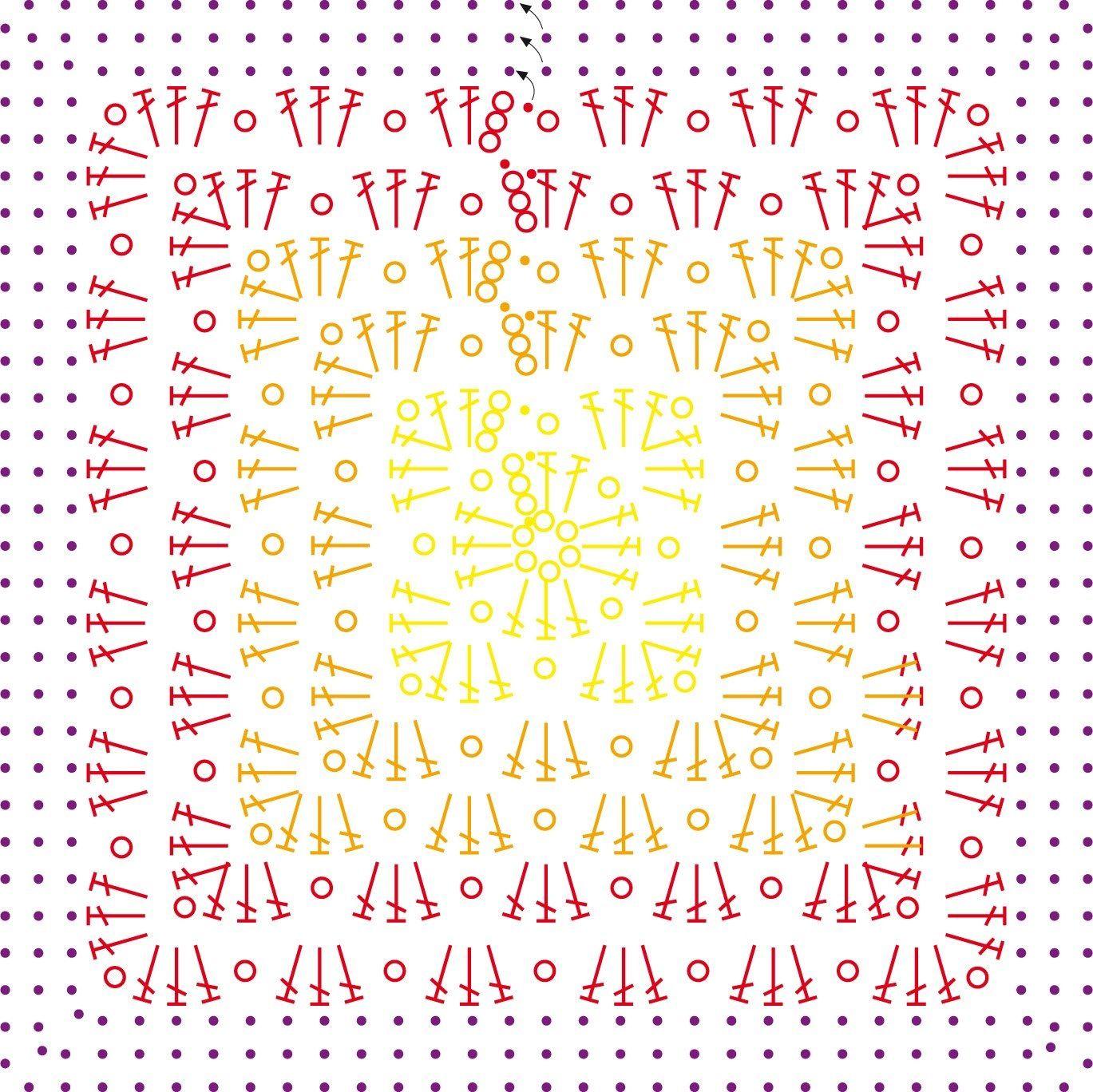 Esquema | Crochet: granny square | Pinterest | Esquemas, Patrones de ...