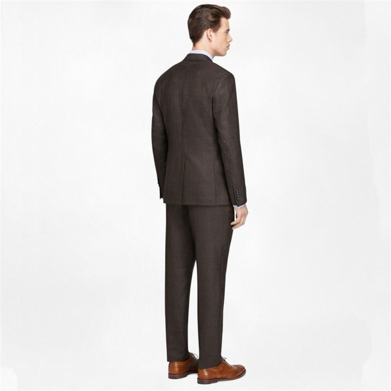 Hand Made By Tailor Mens Suits Jacket Pants Formal Dress Men Suit