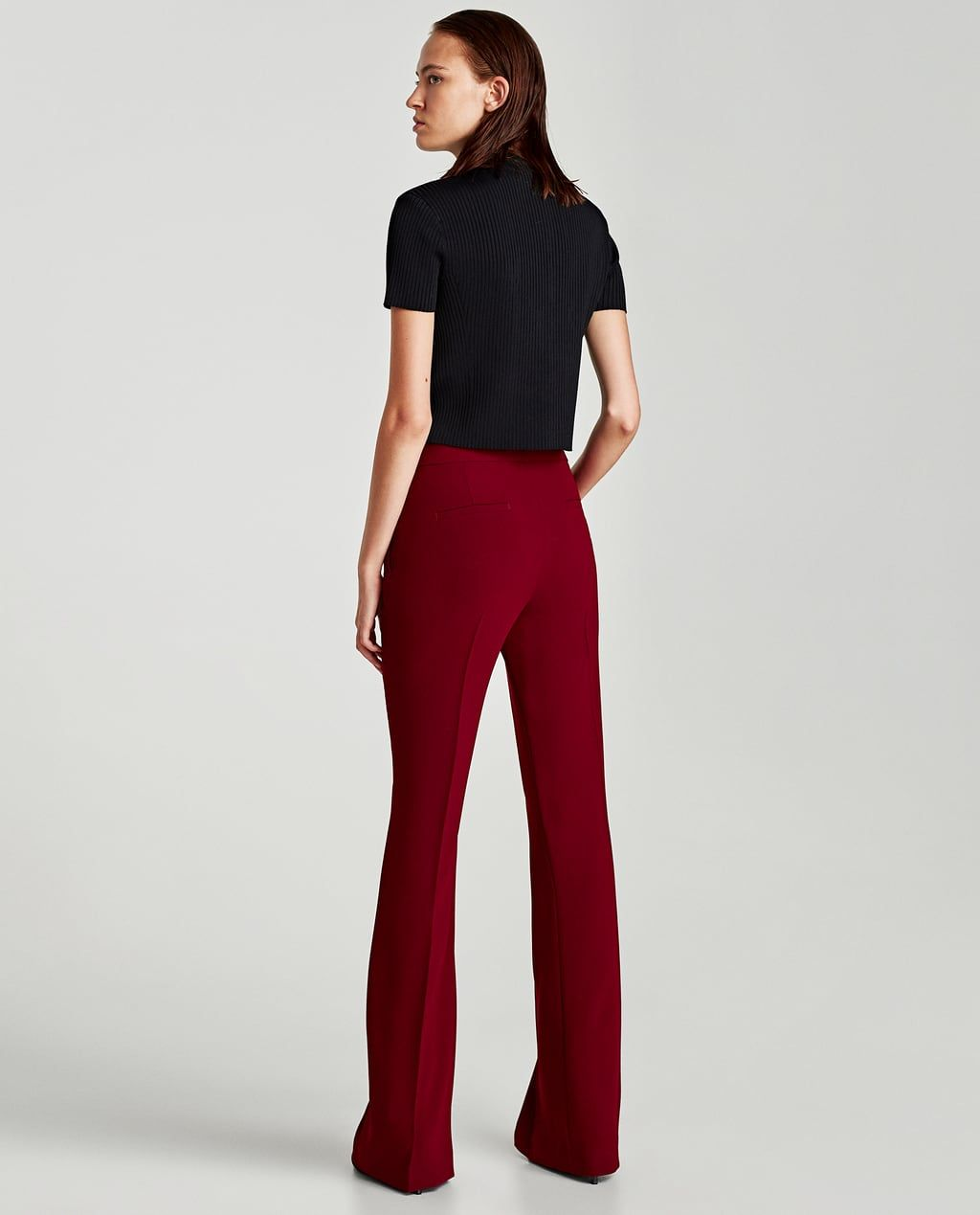 FLARED FLOWING TROUSERS-View all-TROUSERS-WOMAN  b27d4e4d27be
