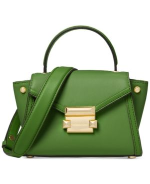 173372878788 Michael Michael Kors Whitney Mini Messenger - Green Green Handbag