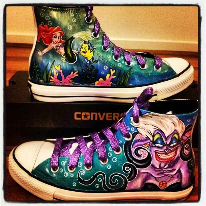 Disney Villains!! Custom Adult Chucks