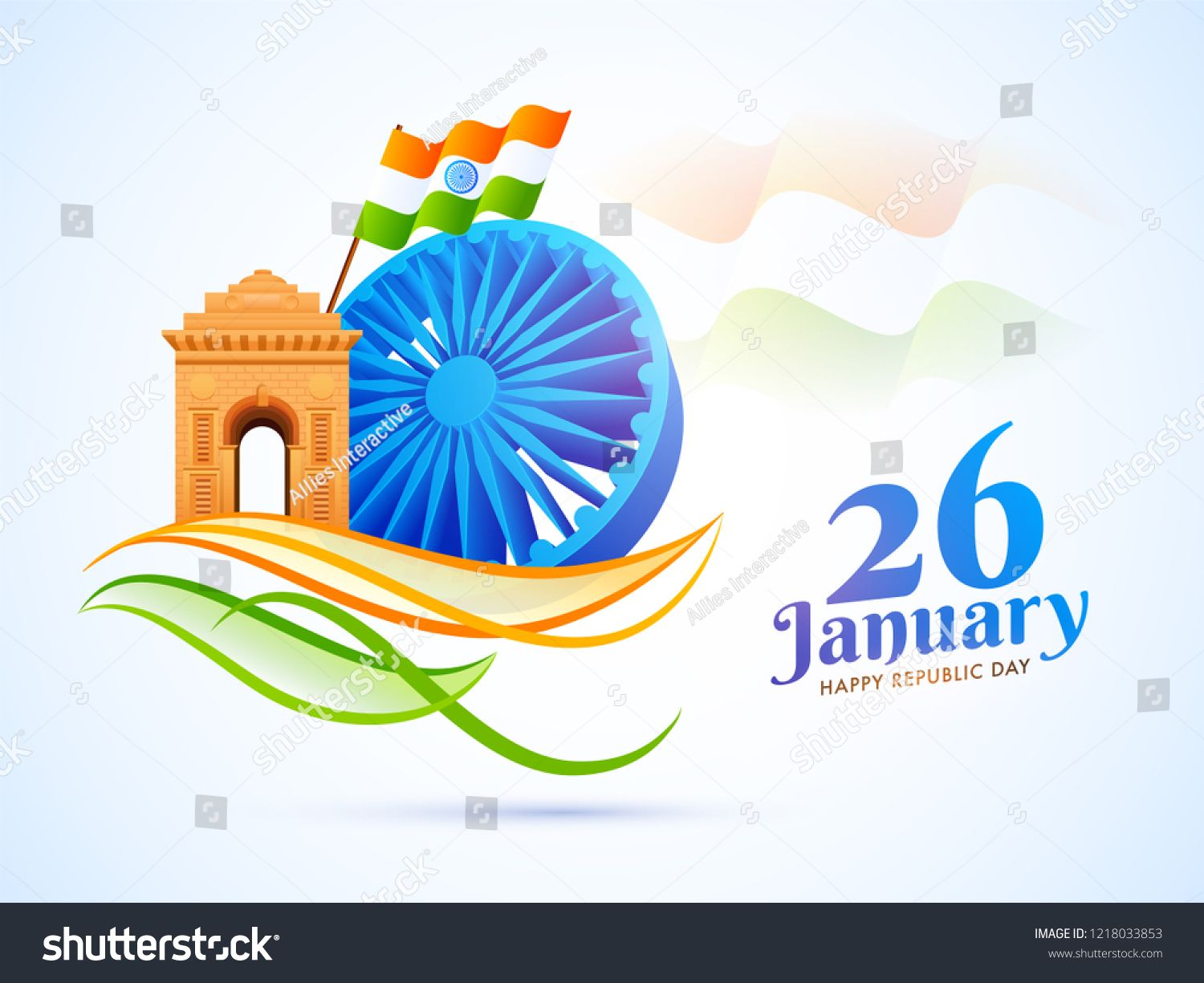 3d Ashoka Wheel With India Gate And Waving Indian Flag Illustration For 26 January Republic Day Republic Day Indian Flag India Gate Happy republic day 2021 india gate
