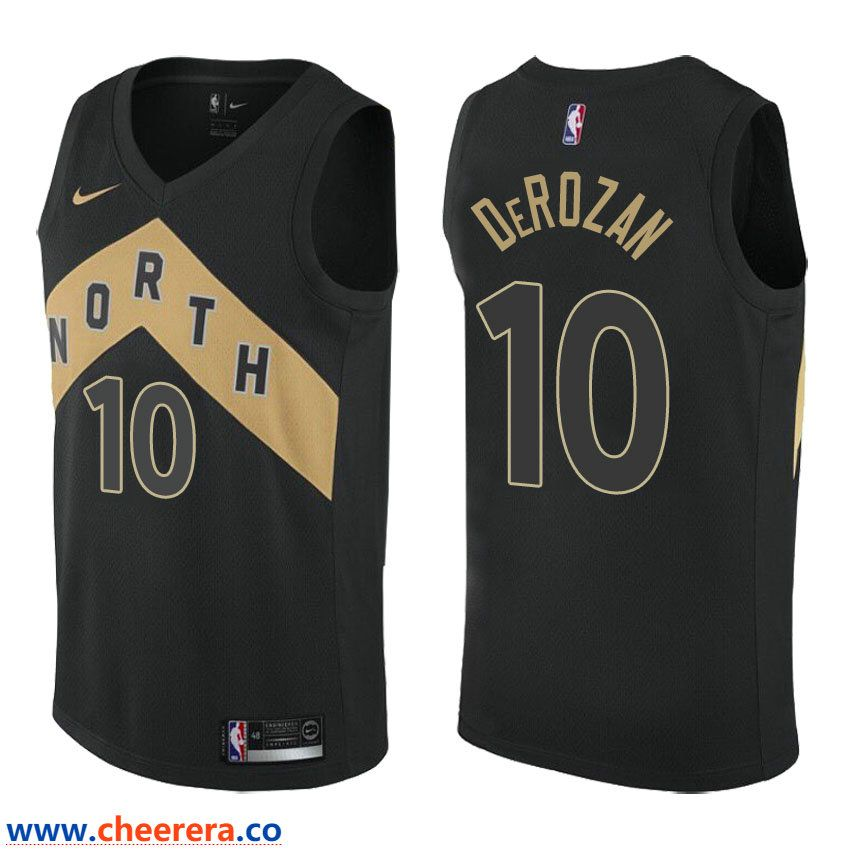aa0a31b2ea6 Men s NBA Toronto Raptors  10 DeMar DeRozan Nike Swingman City Edition Black  Jersey