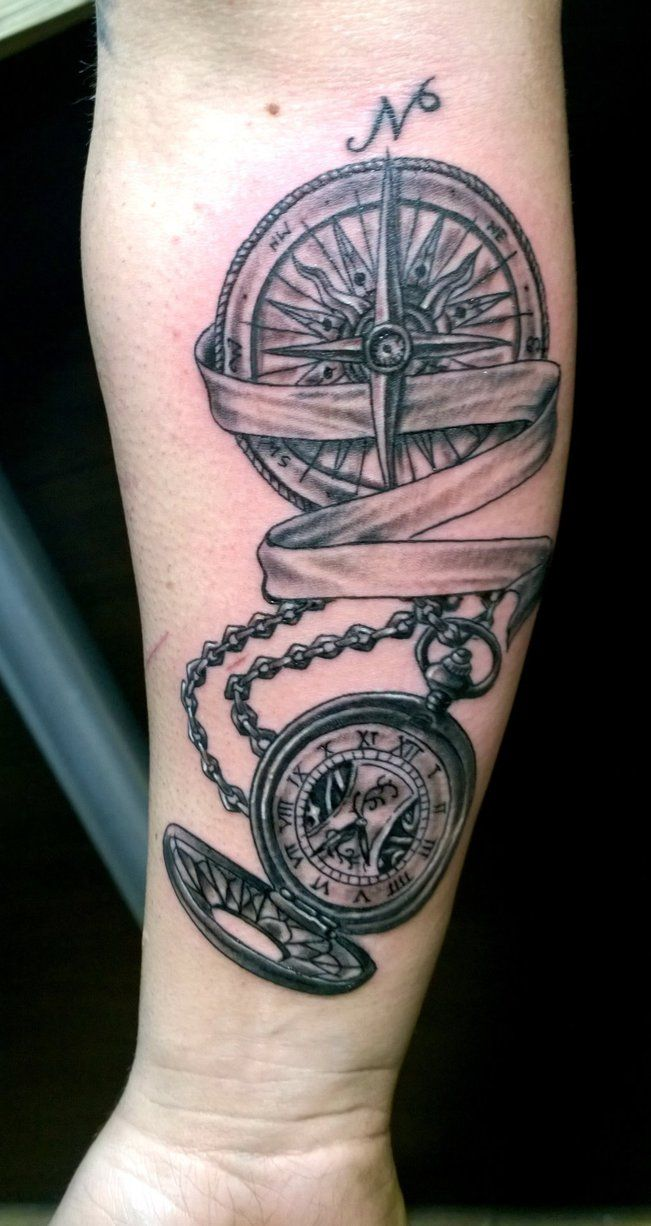compass pocket watch tattoo - Google Search | Tattoos ...