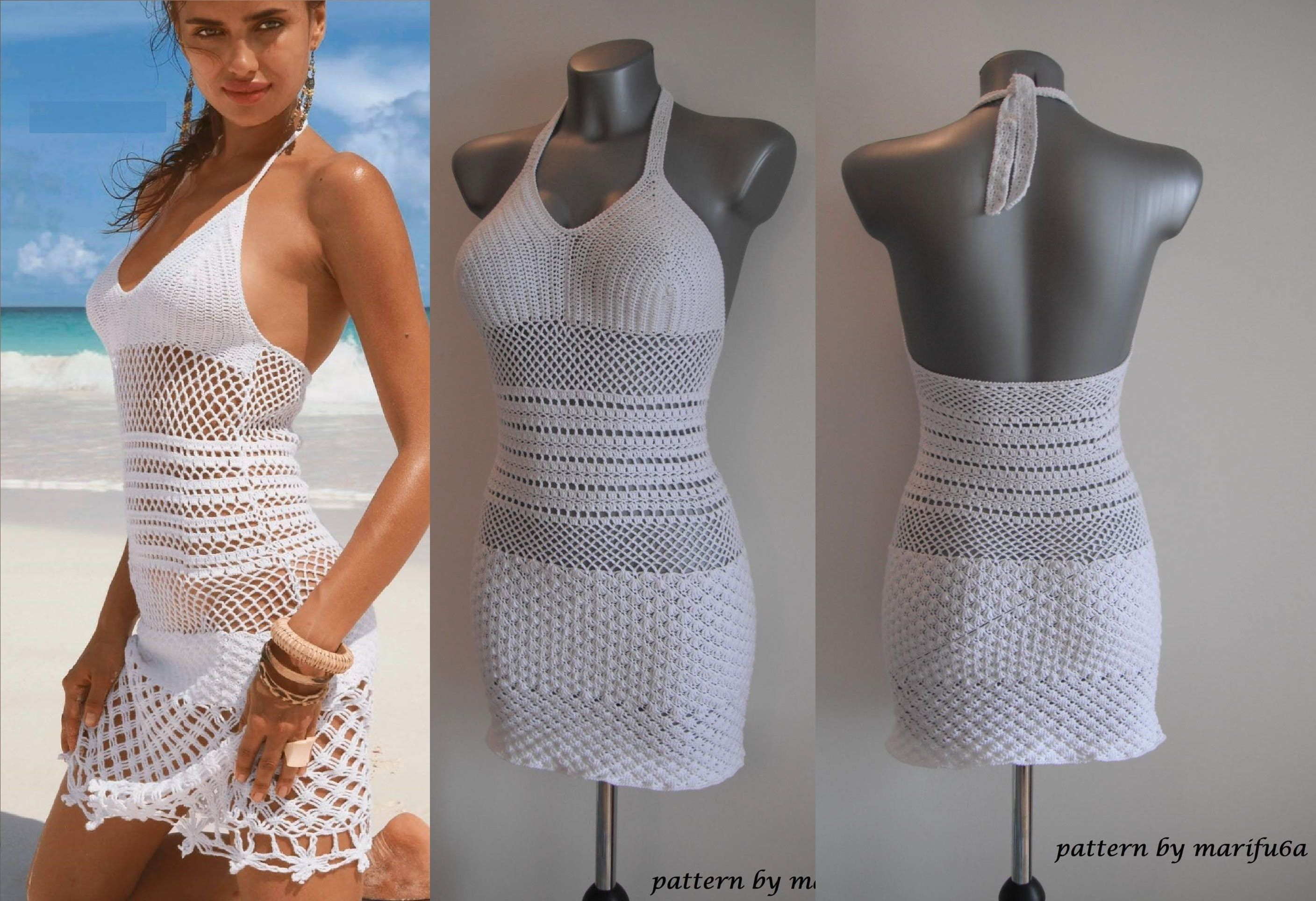 How To Crochet Summer Dress Free Stitch Pattern Tutorial By Marifu6a