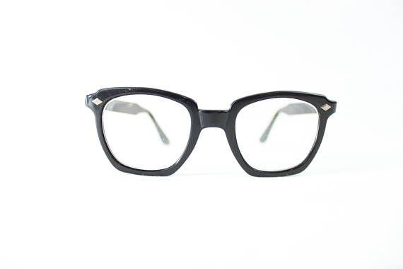 U.S Military issued glasses   vintage black frame glasses   army ...