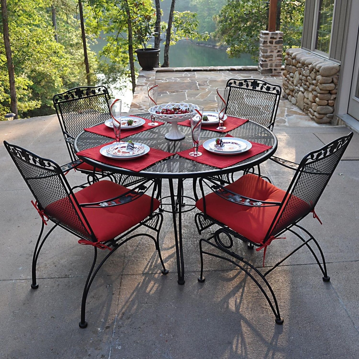 awesome wrought iron patio furniture