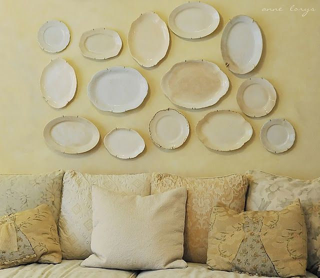 Vintage Platters - @Jacqui Ash you could do this instead of plates too