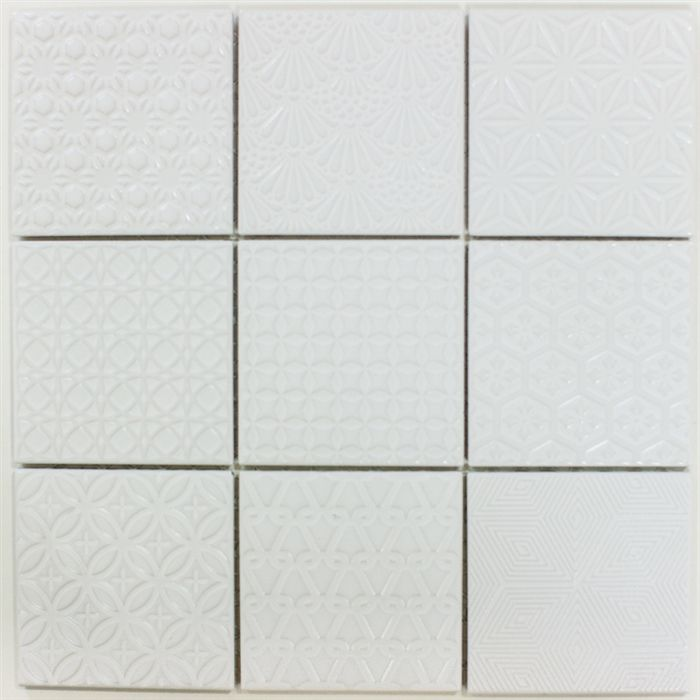 Mod Quilt 12x12 Textured Floor Tile White Tile Floor Flooring Textured Subway