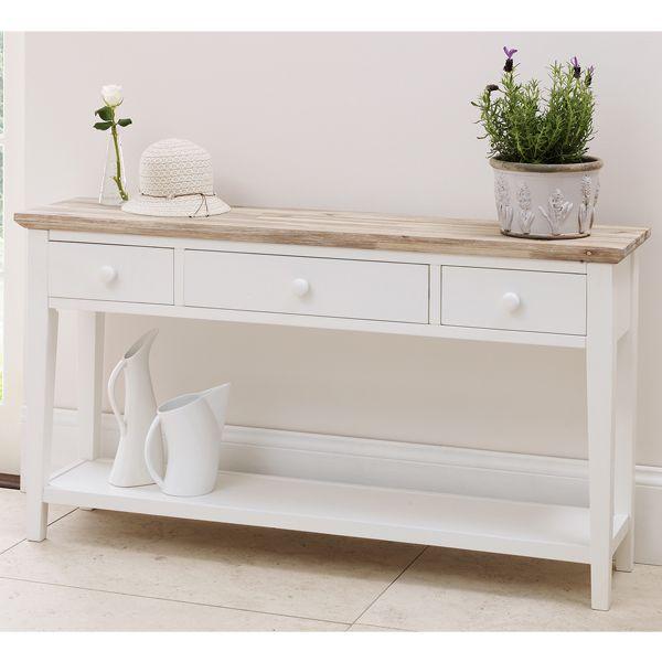 Beautiful 3 Drawer Console Table   Blakeney   White