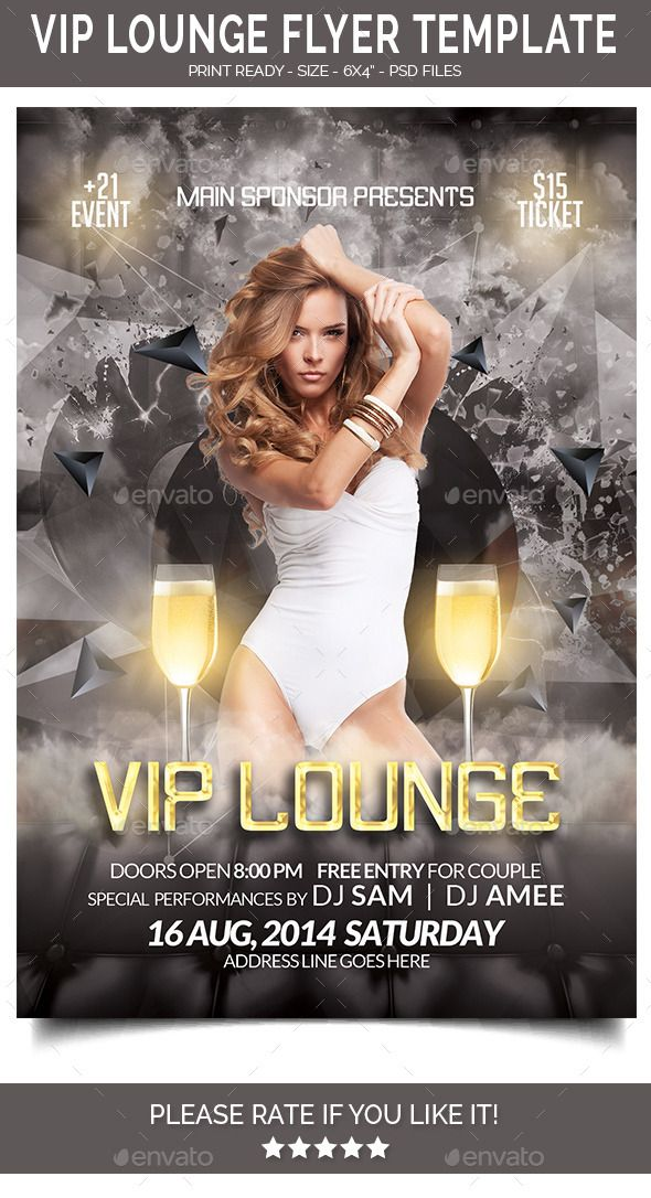 Vip Lounge Flyer  Vip Flyer Template And Flyer Printing