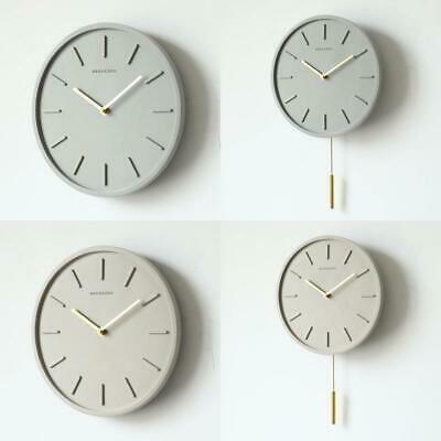 Nordic Cement Wall Clock With Metal Pendulum Bedroom Silent Needle Clock Living  #fashion #home #garden #homedcor #clocks (ebay link)