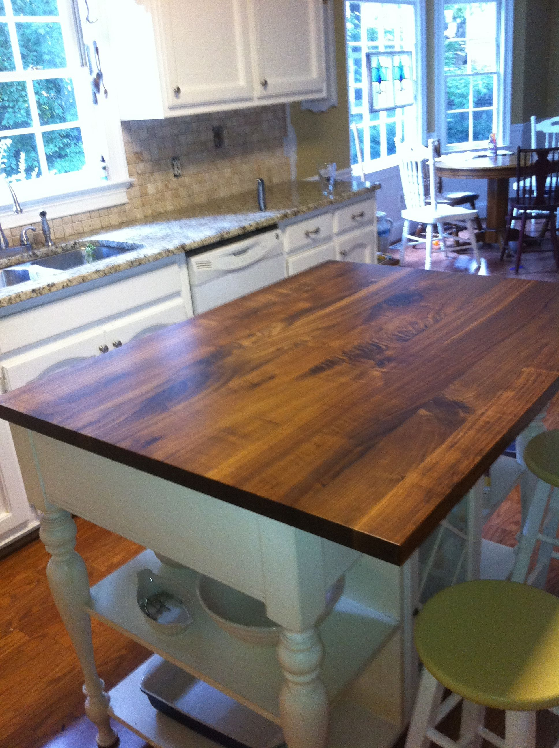Remarkable Rustic Black Walnut Plank Style Wood Countertop Maybe A Download Free Architecture Designs Rallybritishbridgeorg