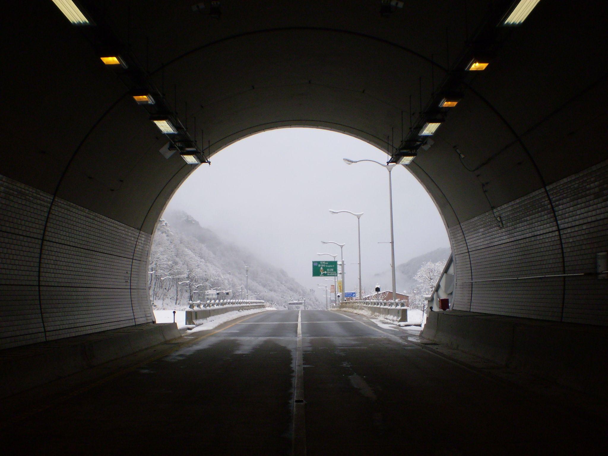 Misiryeong Tunnel, Sokcho, Korea   미시령 터널
