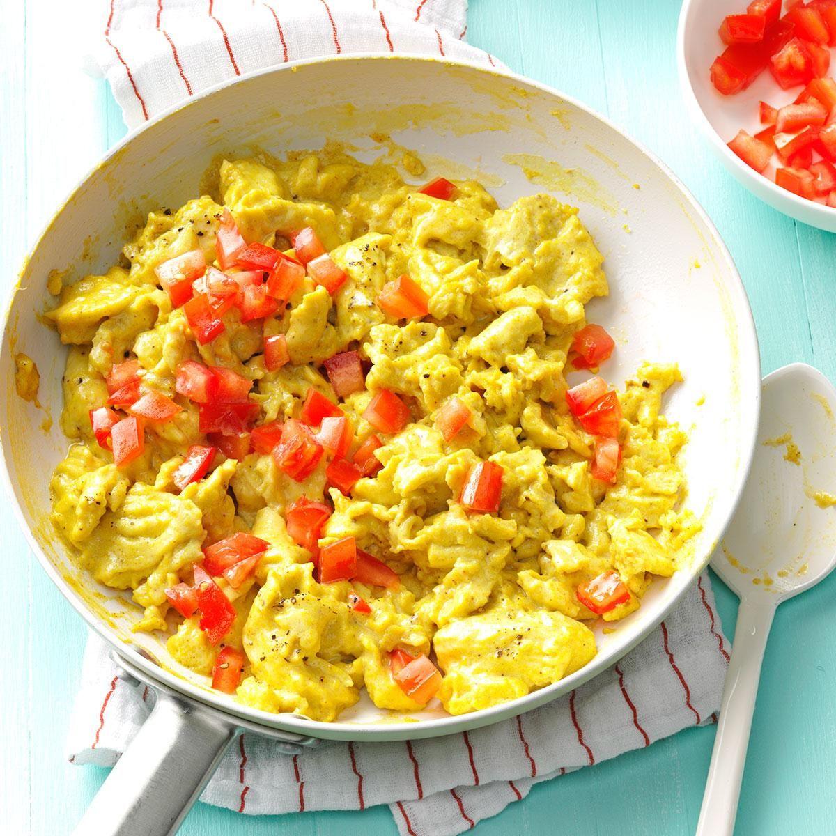 Curry Scramble   Recipe in 2020   Egg recipes, Easy egg ...