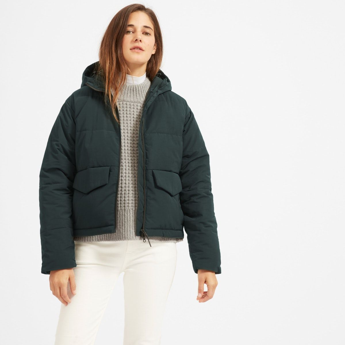 A Cooler Puffer Our Short Puffer Jacket Features A Boxy Relaxed Shape A Hood And Flap Pockets Plus It S Filled With P Short Puffer Jacket Fashion Jackets [ 1200 x 1200 Pixel ]