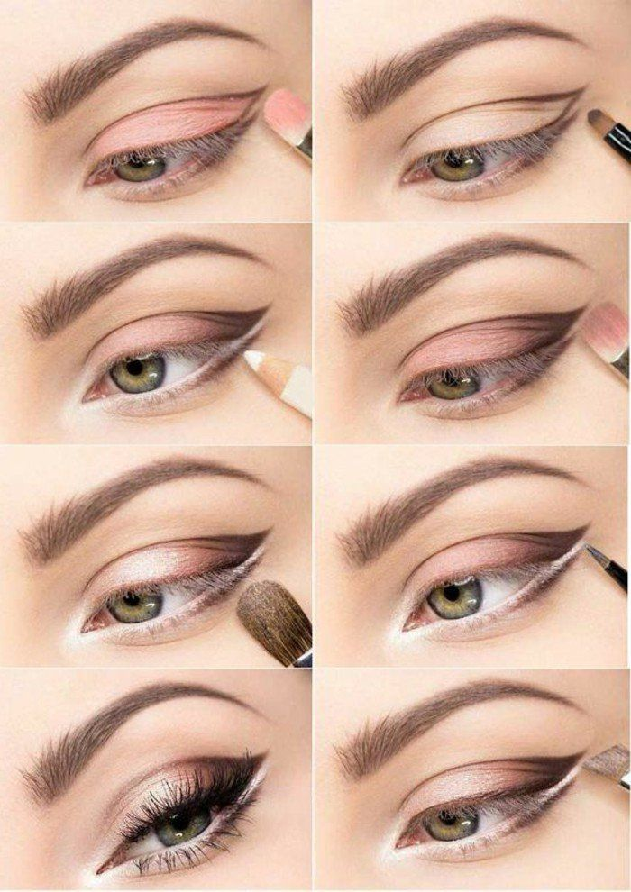 trouvez votre technique de maquillage dans 56 photos et vid os yeux charbonneux yeux et roses. Black Bedroom Furniture Sets. Home Design Ideas