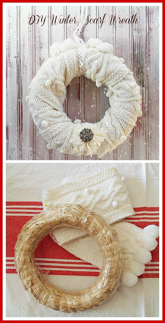 Photo of Easy DIY Winter Scarf Wreath