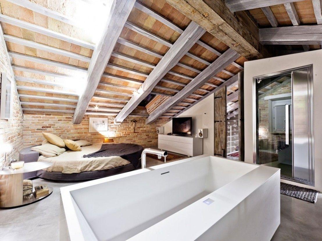 Bagno sottotetto ~ Un sensuale sottotetto come arredare in stile industrial stanze