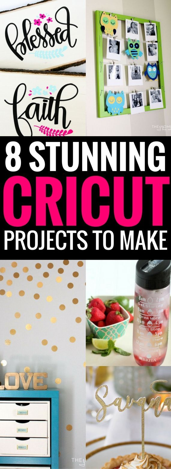 8 Cricut Projects You Can't Afford To Miss #craftstosell