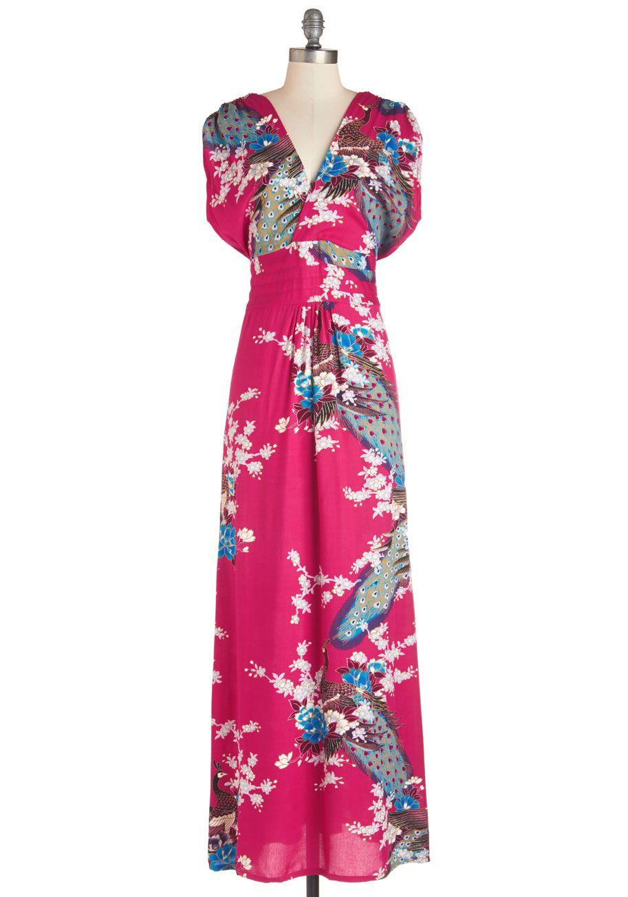 Serene Dream Maxi Dress in Navy Blossom | Vestido largo, Pintas y ...