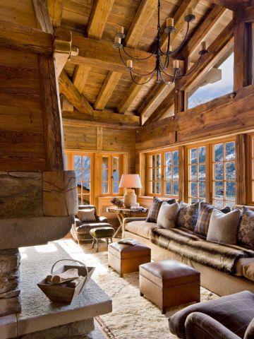 Luxe Absolu Dans Un Chalet Rustique Cabin Chalet Style