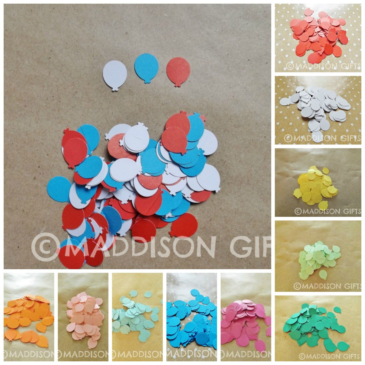 Party balloon card making embellishments table confetti decorative party balloon card making embellishments table confetti decorative scrapbooking paper craft supplies jeuxipadfo Choice Image