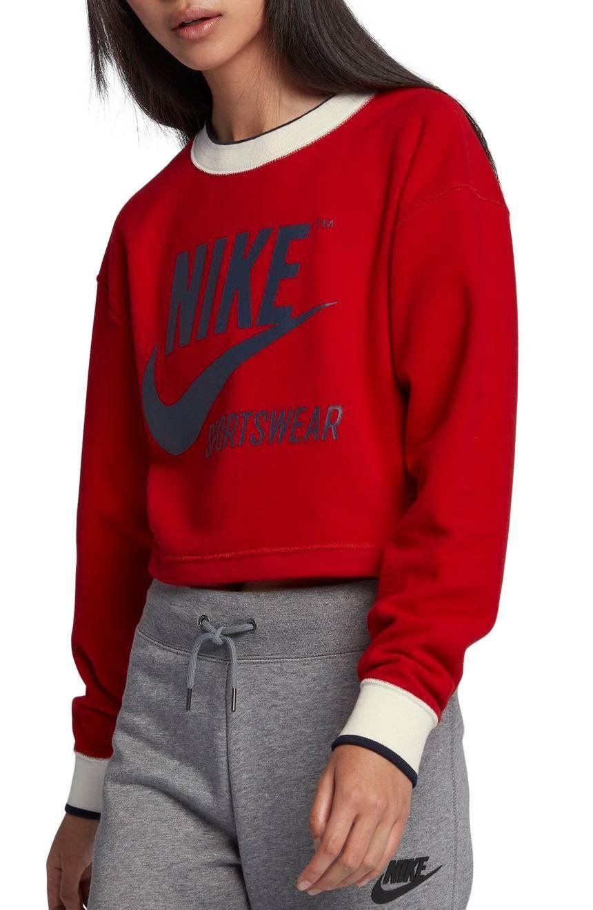 Nike Blusa corta estampada reversible hJMazp