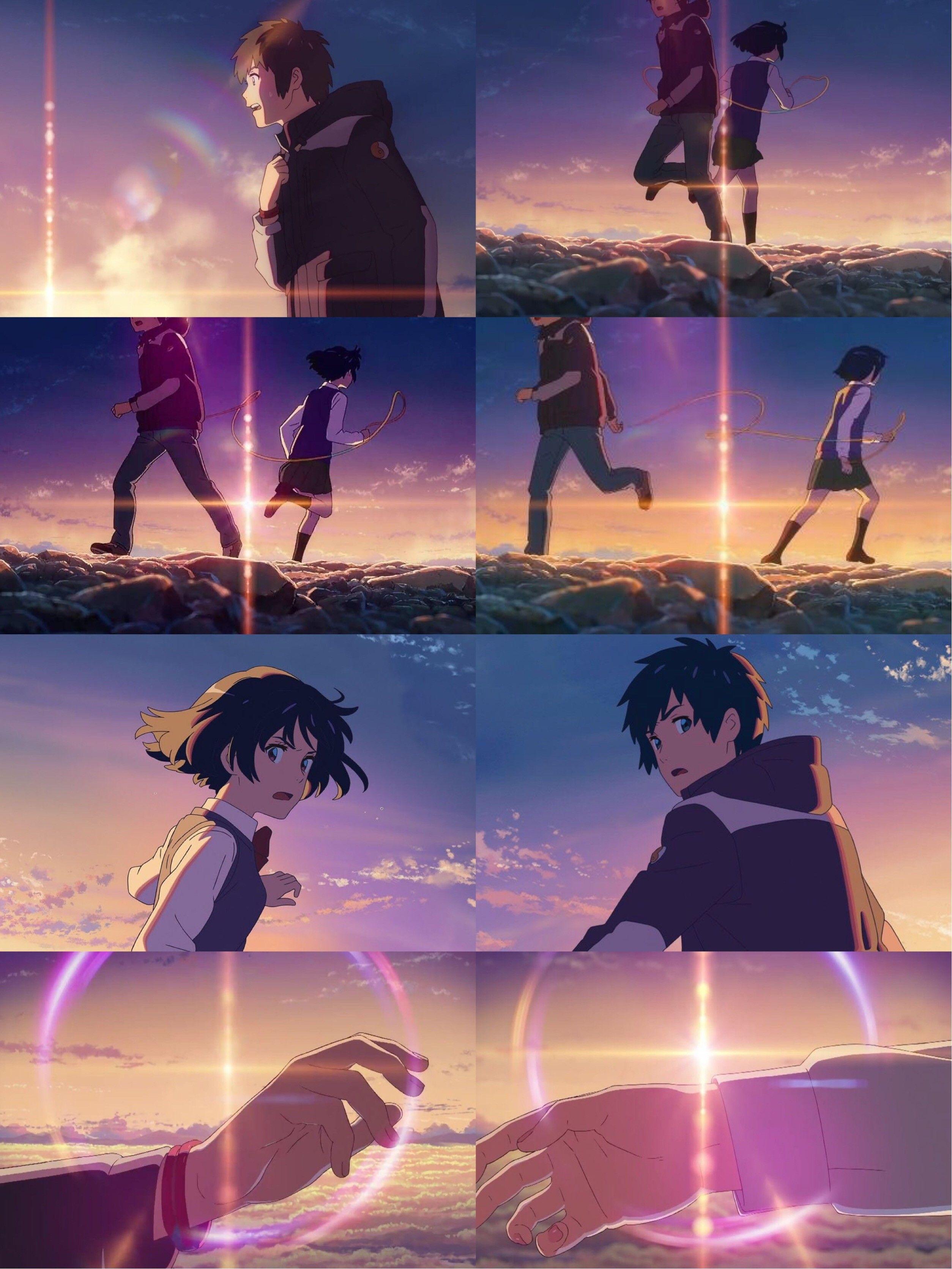 Kimi No Na Wa Your Name Anime Kimi No Na Wa Mitsuha And Taki